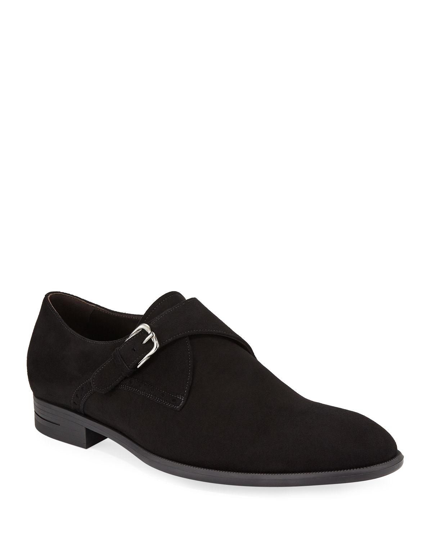 New Flex Suede Monk-Strap Shoes