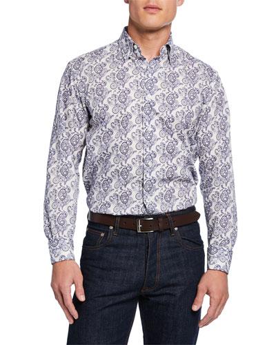 512b5367cd30 Men s Paisley-Print Cotton Sport Shirt Quick Look. Brioni
