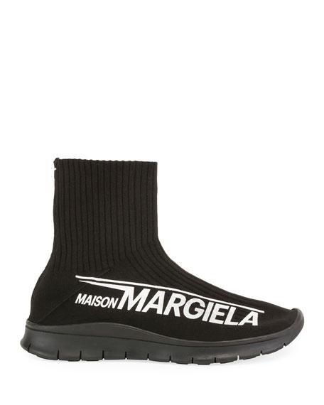 Men's Logo-Knit High Sock Sneakers