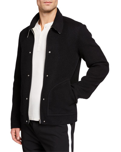 Men's Logo Zip Blouson Jacket