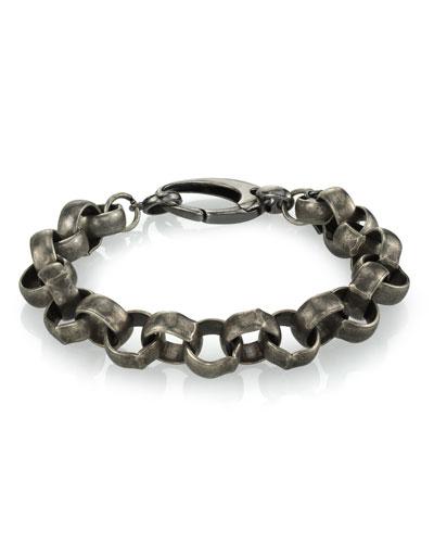 Men's Rolo Chain Bracelet  Size M