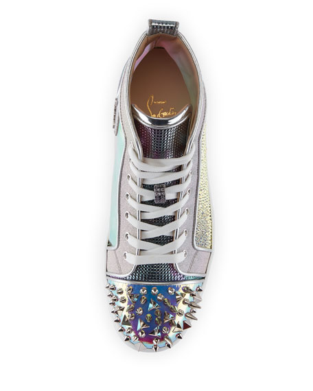 Men's Loox Strass Mixed-Media Mid-Top Sneakers
