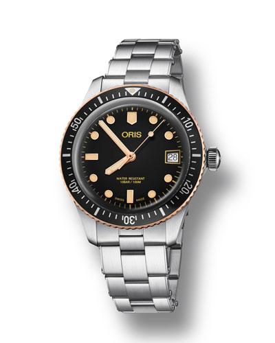 Men's 36mm Diver Bracelet Watch w/ Bronze  Black
