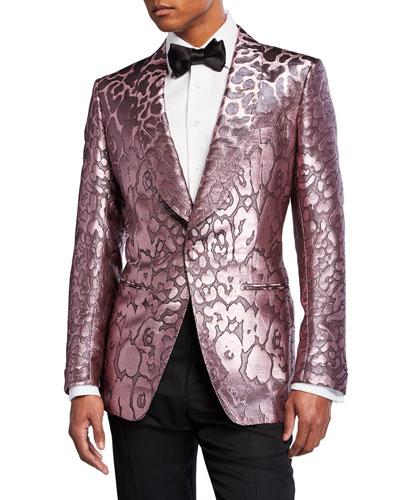 Men's Printed Satin Dinner Jacket