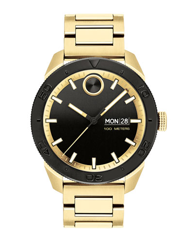 Men's Bold Sport Bracelet Watch  Gold