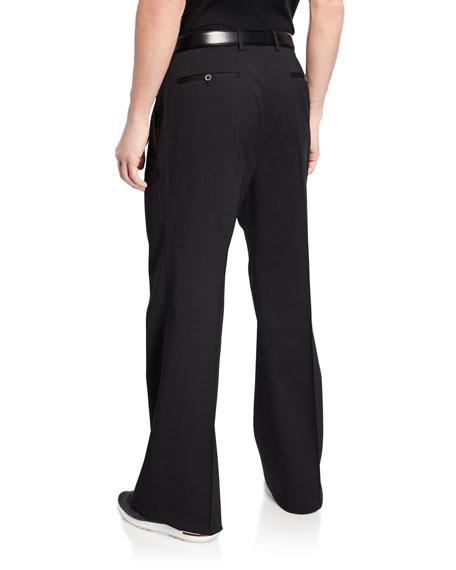 Men's Wide-Leg Wool Trousers