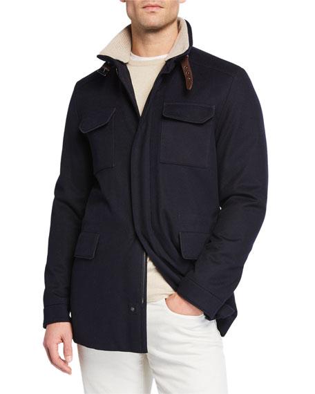 New Traveler Cashmere Stretch Storm System® Jacket, Flannel Melange