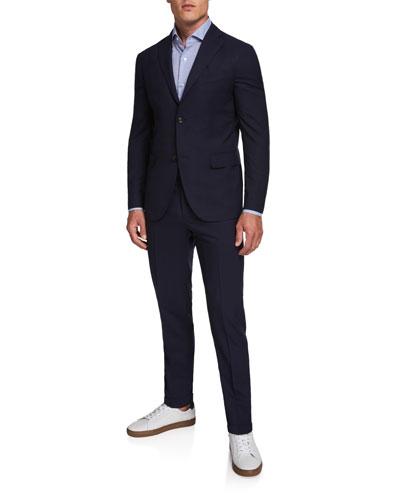 Men's Two-Piece Wool Twill Suit