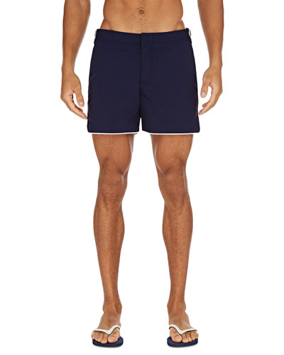 Men's Setter Contrast-Piping Swim Trunks
