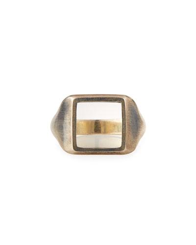 Men's The Zenith Oxidized Silver Ring