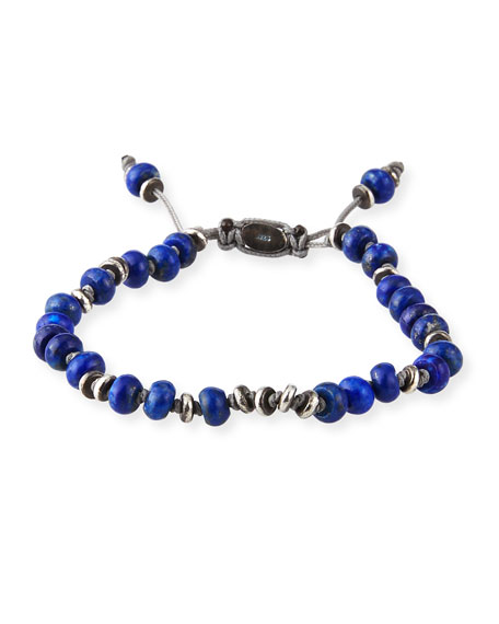 Men's Templar Jointed Gemstone Bracelet, Blue