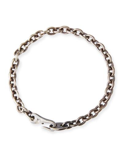 Men's 925 Silver Aurora Chain Link Bracelet