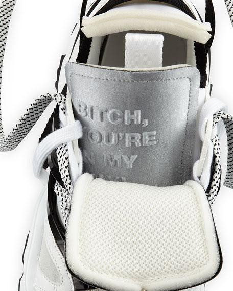Men's Giant Mixed-Media Platform Sneakers