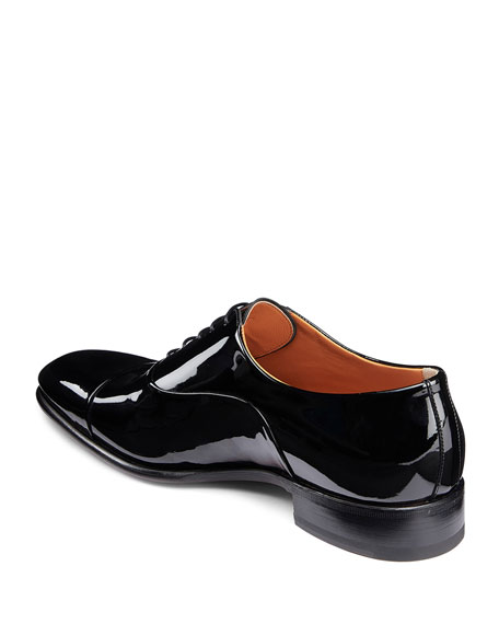 Men's Isaac Patent Leather Lace-Up Shoes