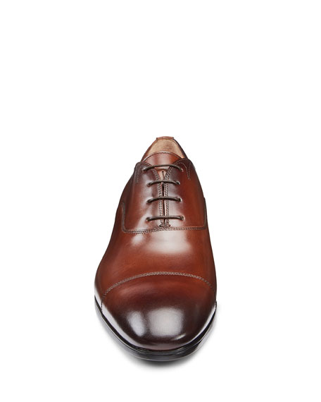 Men's Salem Leather Lace-Up Loafers, Brown