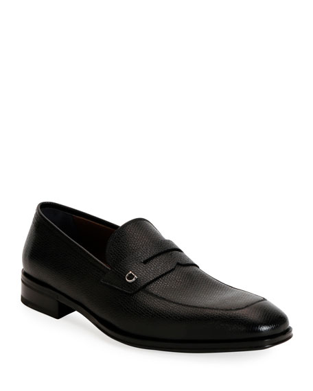 Men's Tito Textured Leather Penny Loafers