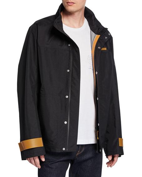 Men's Tech Sport Nylon Zip-Front Jacket