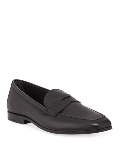 Men's Slim Mocassino Leather Loafers