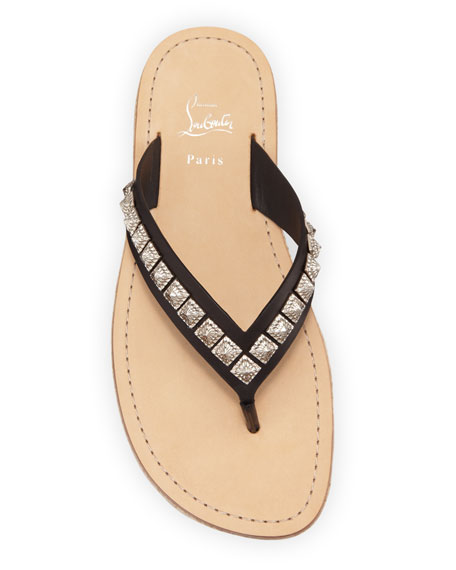 Men's Pyraclos Studded Leather Thong Sandals