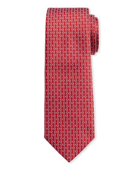 Men's Ibiza Silk Sunglasses Tie, Red