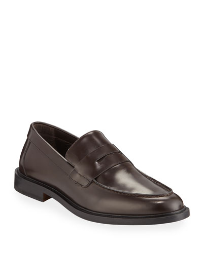 Men's Calf Leather Penny Loafers