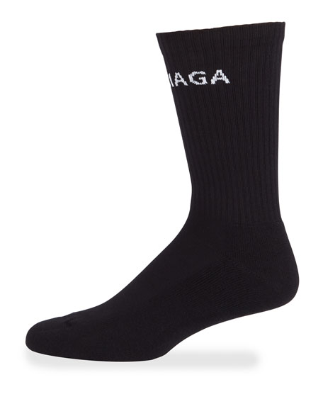 Image 1 of 1: Men's Logo-Knit Tennis Socks