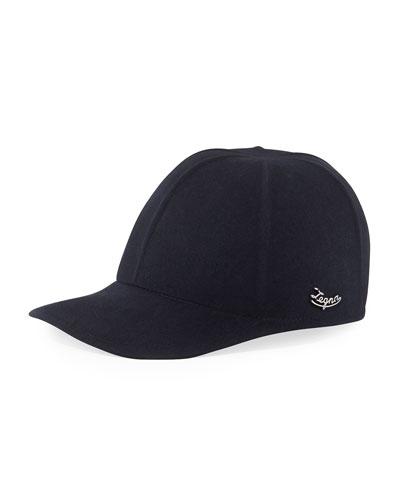 Men's Solid Baseball Cap w/ Side Logo