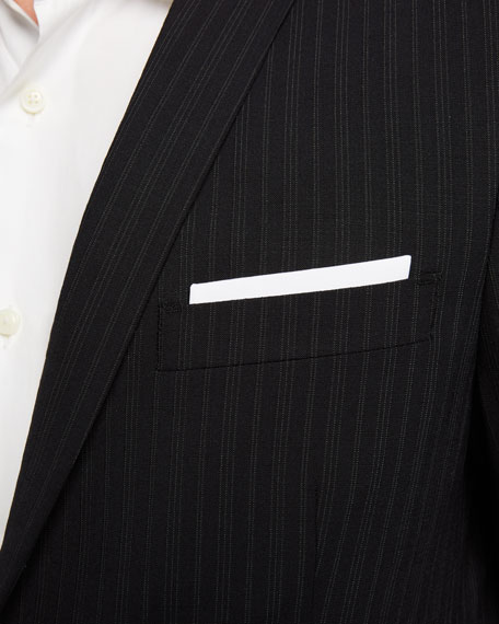 Men's Mini Pinstripe 2-Piece Wool Suit
