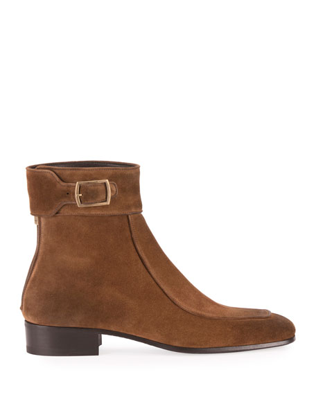 Men's Miles 30mm Suede Buckle Ankle Boots