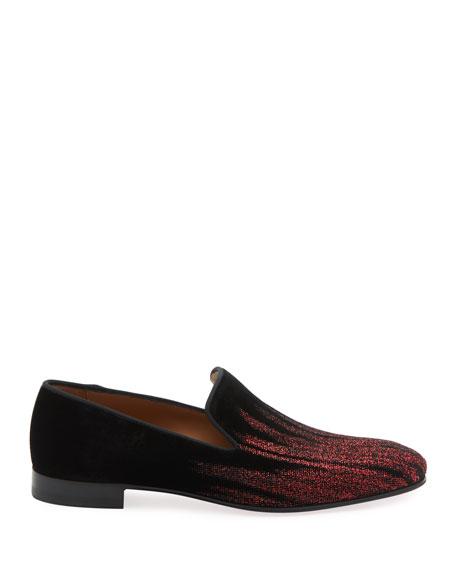 Men's Dandelion Degrade Velvet Loafers