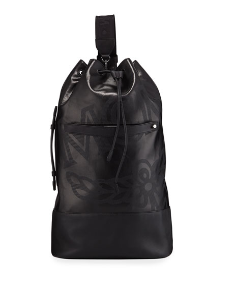 Men's Max Coated Canvas Large Drawstring Backpack