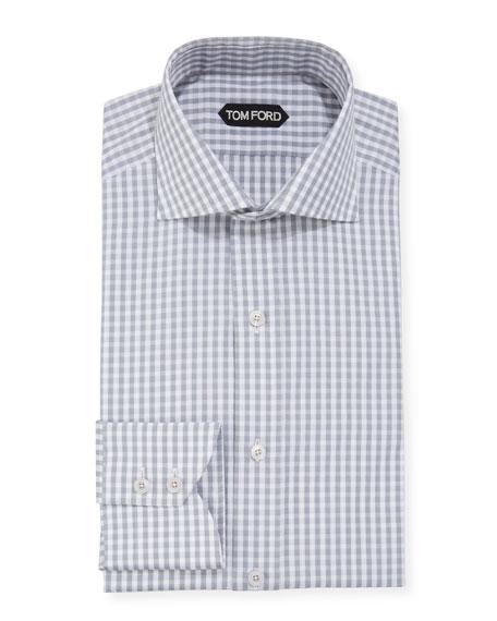 Men's Dobby Gingham Dress Shirt