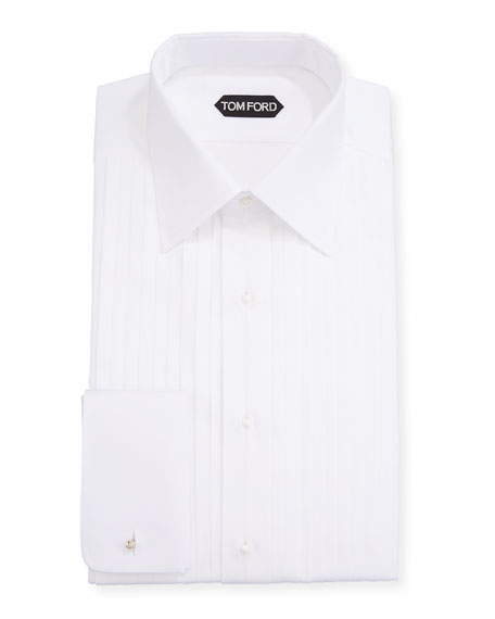Men's Plisse Formal Dress Shirt