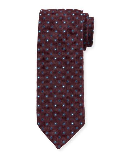 Men's Small-Dot Silk Grenadine Tie