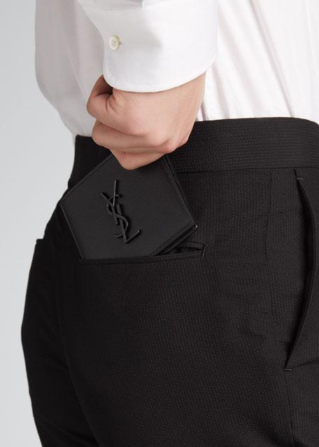Men's YSL Monogram Leather Wallet