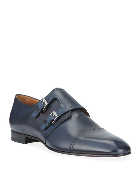 Men's Mortimer Double-Monk Red Sole Loafers