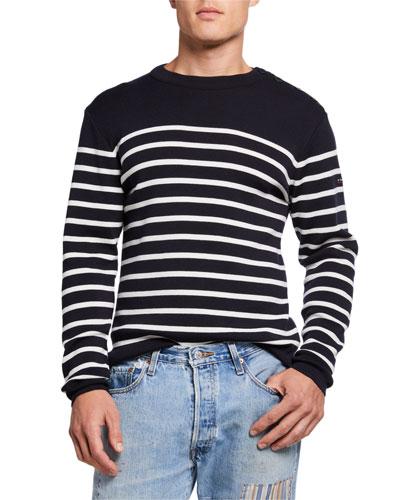 Men's Goulenez Striped Wool Sweater