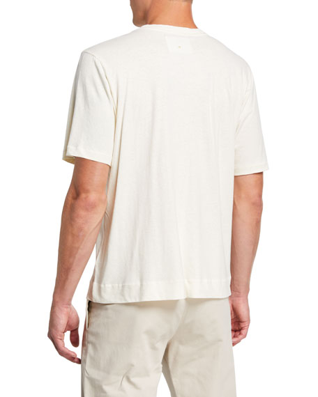 Men's Linen-Blend Basic T-Shirt