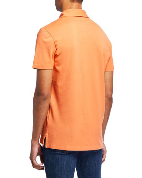 Men's Pocket Polo Shirt, Orange