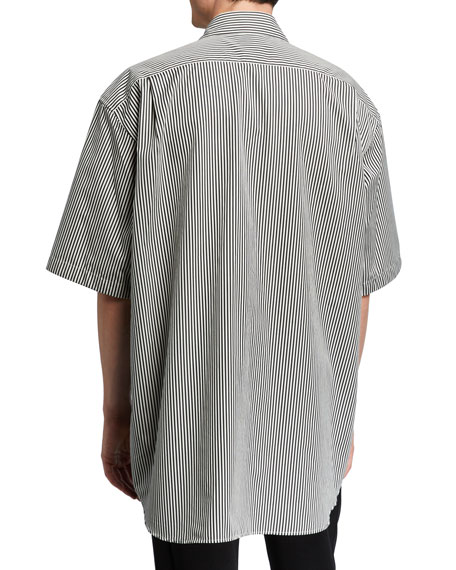 Men's Oversized Bengal Stripe Sport Shirt