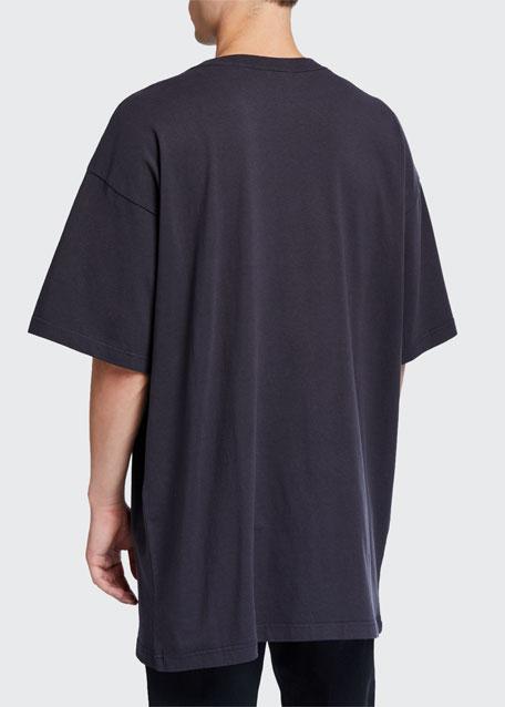 Men's Oversized Washed BB Logo T-Shirt