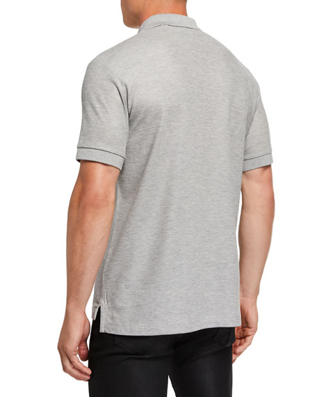 Men's Eddie Pique Polo Shirt, Gray