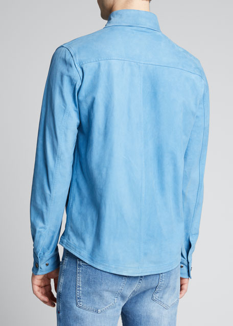 Men's Suede Shirt Jacket