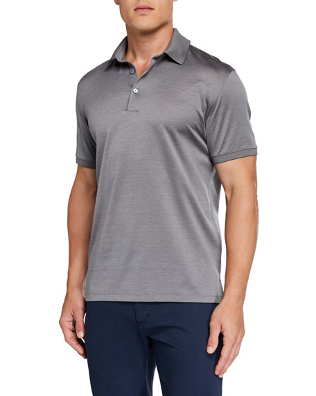 Image 1 of 1: Men's Natural Pique Regular-Fit Polo Shirt
