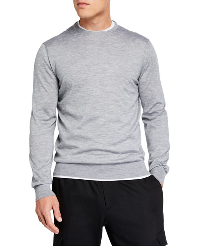 Men's Lightweight Cashmere/Silk Sweater, Gray