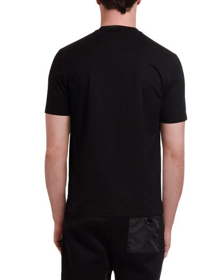 Men's Crewneck Nylon-Pocket T-Shirt