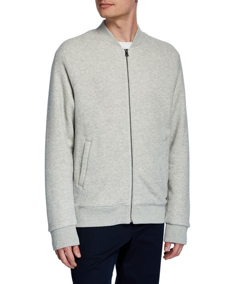 Vince French Terry Zip-Up Track Jacket