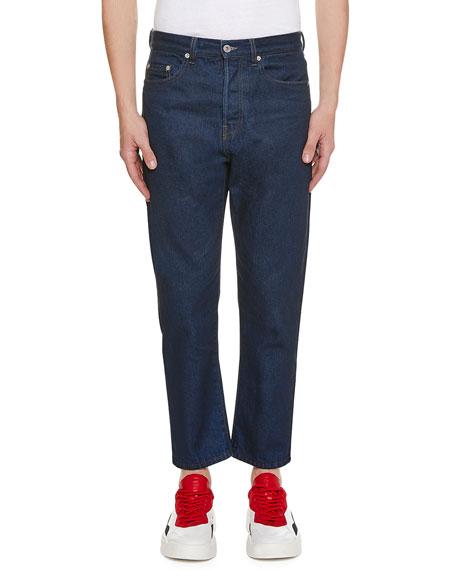Men's Logo-Pocket Straight-Leg Jeans