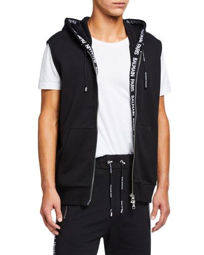Men's Zip-Front Hoodie Vest
