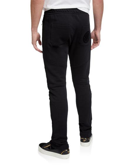 Men's Slim-Fit Paneled Sweatpants w/ Zip Pockets